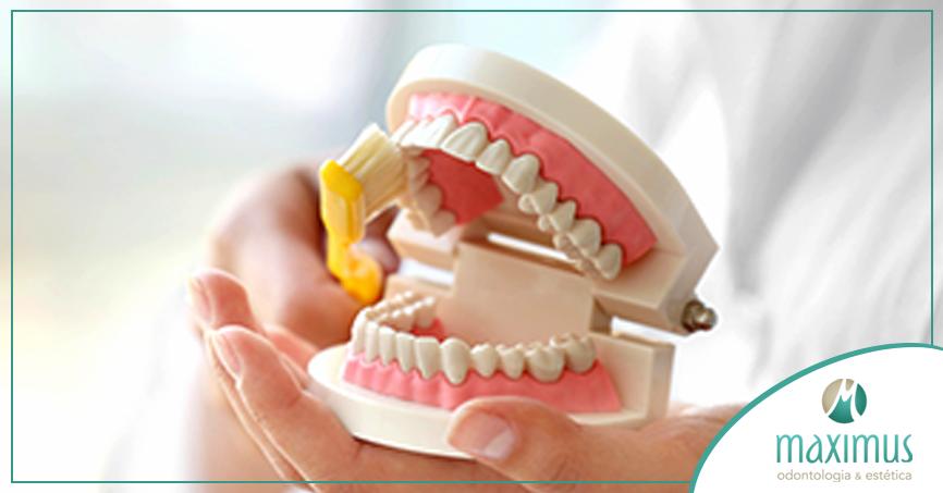 higiene protese dentária